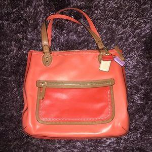 Bright authentic coach shoulder bag!