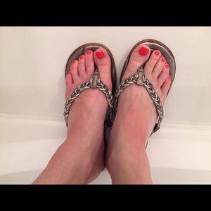 Soda Shoes - Silver sandals flip flops