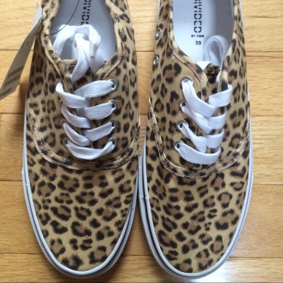 H\u0026M Shoes | Nwt Hm Canvas Leopard