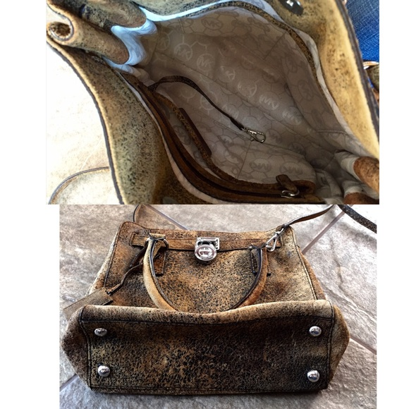 64% off Michael Kors Handbags - MICHAEL KORS Distressed Leather ...