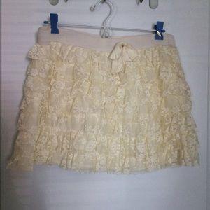 Dresses & Skirts - White lace mini skirt