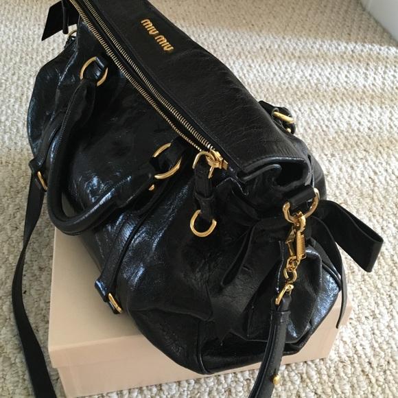 Miu Miu Black Bow Bag