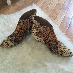 Matisse Nugent wedge leopard ankle booties