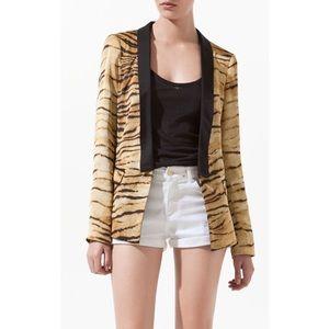 Zara Tiger Print Blazer