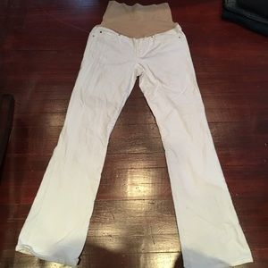 GAP Denim - Gap White Maternity Jeans -Long and Lean Size 28/6