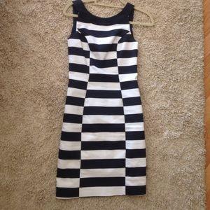 Navy & White Striped Sheath Dress from H&M