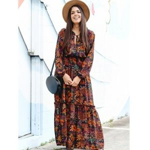H&M paisley maxi dress