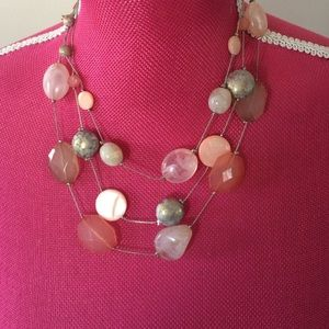 Beaded pink necklace
