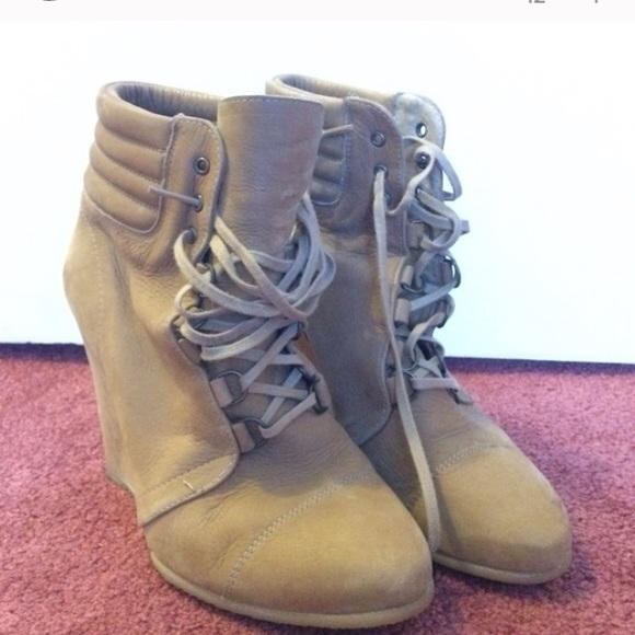 75 zara shoes zara wedge boot from s closet