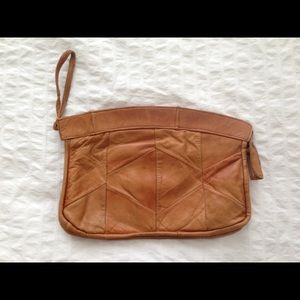 Vintage - Brown Leather Clutch