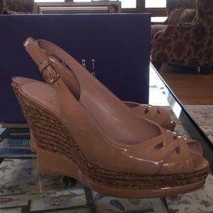 f24793206478 Stuart Weitzman Shoes - Stuart Weitzman DoLunch Slingback Nude Patent 9M