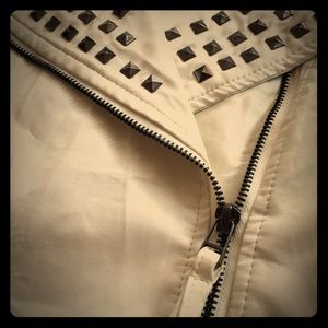 Ashley by 26 International Jackets & Blazers - Faux Leather White Jacket