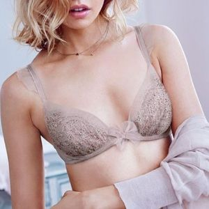 Victoria's Secret Other - Taupe Dream Angels Crystal Tulle Bra