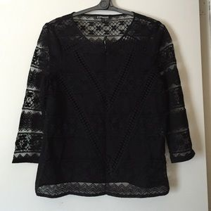NWT Express Crochet Lace Top