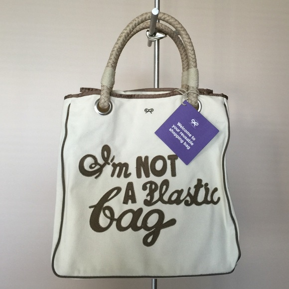 ce5d0bf58cd Anya Hindmarch Bags   Authentic Im Not A Plastic Bag Uk Version ...