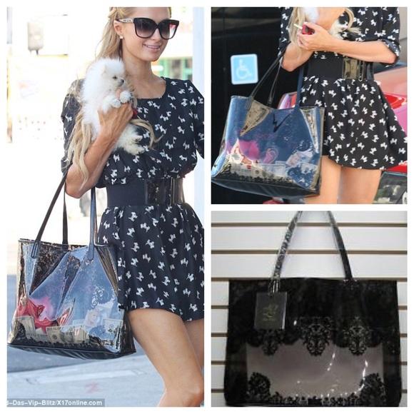 Paris Hilton clear tote bag