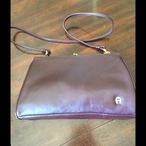Etienne Aigner Handbags - Little Older Dressy Maroon Clutch/Shoulderbag
