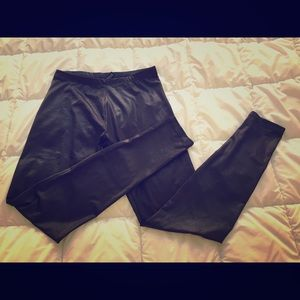 H&M Leather-Look Leggings Size 6