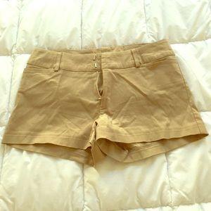 Khaki colored shorts Size 2