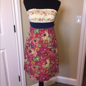Anthropologie Maeve Strapless Dress