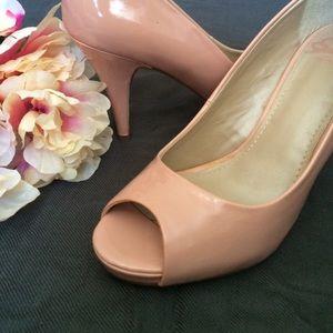 Fergalicious Shoes - PPPP! Pale pink peep-toe pumps!