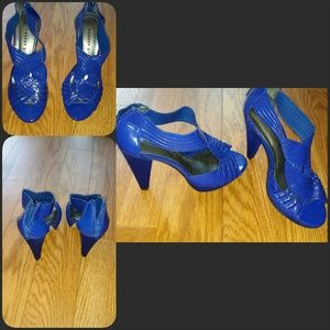 Electric Blue Madden Girl Sandals