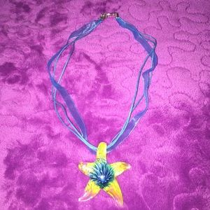 Starfish Glass Necklace