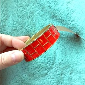 NWT The Limited Red & Gold bangle