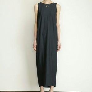 Black Crane Dresses & Skirts - Cream Long Gathered Dress