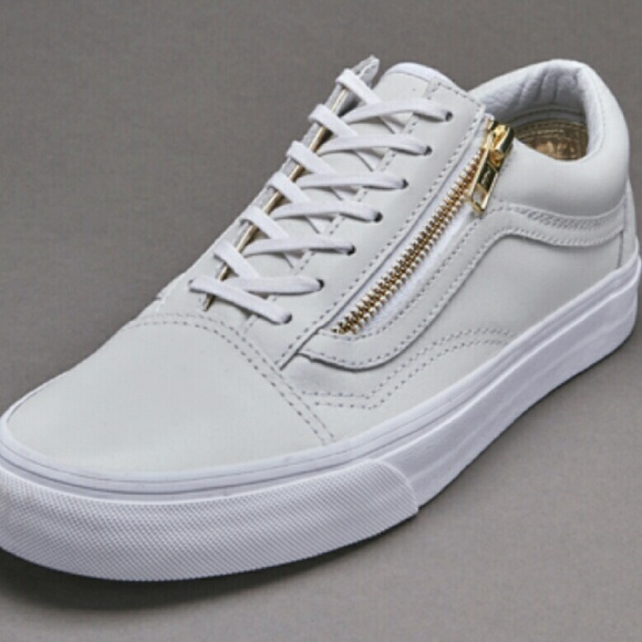 Old skool Zip White Leather Vans. M 571d339b2fd0b7afdf00c857 f159c039aff3