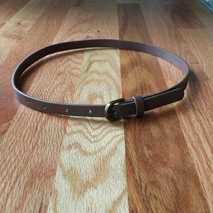 Accessories - Skinny Faux Leather Belt