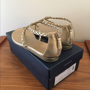 Cole Haan Gold Abbe Sandal