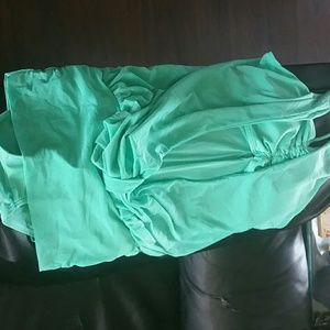 Teal one peice swimsuit