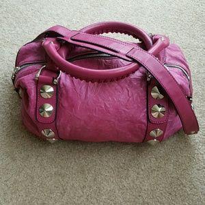Be & D Handbags - Be & D Pink Leather Stud Bag Purse Crossbody