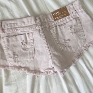 One Teaspoon Shorts - OneTeaspoon Pink Trashwhores in 27