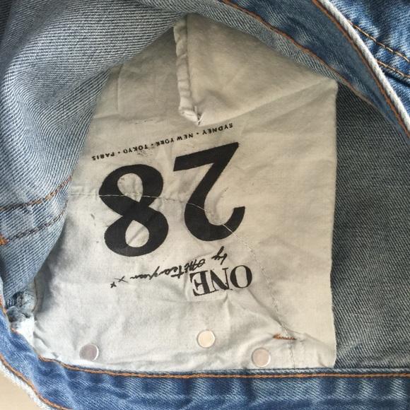 One Teaspoon Shorts - One Teaspoon 28 bandits (medium blue) distressed