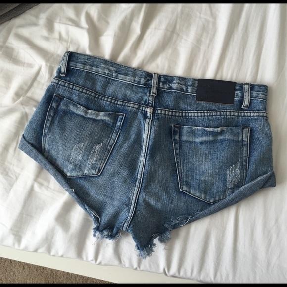 One Teaspoon Shorts - One Teaspoon Bandits. (Medium blue)
