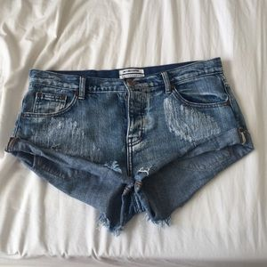 One Teaspoon Shorts - One Teaspoon Bandits. (Medium blue)