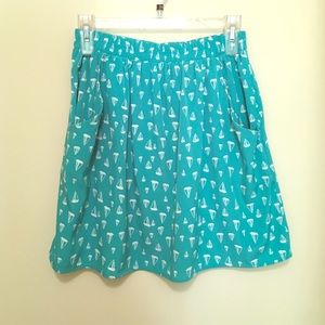 ⛵️SAILBOAT print skirt with pockets!!!!⛵️
