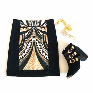 Minkpink Gold Black Mink Skirt