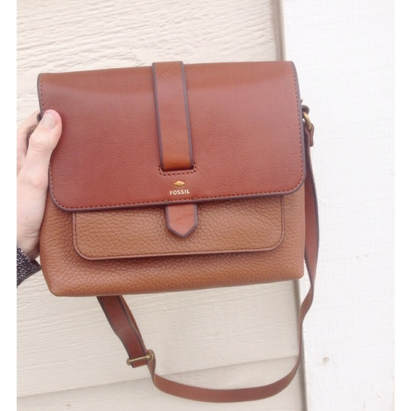 0262845af0a5 NEW Fossil Kinley Small Crossbody brown purse