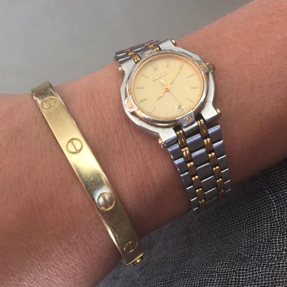2fd2cbfe6a3 Gucci Accessories - Vintage Authentic Gucci 9000L two-tone wristwatch.