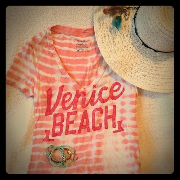 9a33ff85c American Eagle Outfitters Tops | Ae Venice Beach Tie Dye Tshirt ...