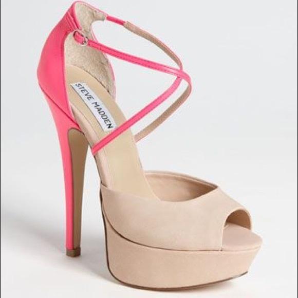 73% off Steve Madden Shoes - Neon pink/nude heels from Brenda's ...