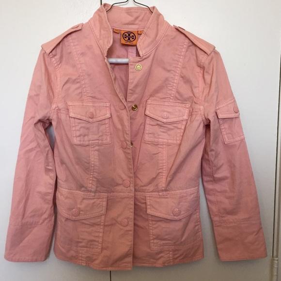 66% off Tory Burch Jackets & Blazers - TORY BURCH Pink Military ...