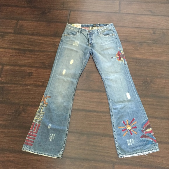 Buffalo - Vintage buffalo embroidered bell bottom jeans from ...