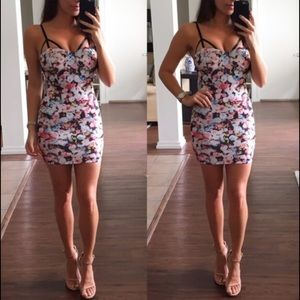 Dresses & Skirts - Colorful Flower Print Mini Dress