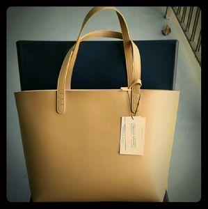 Inspired Mansur Bucket bag brand large tan tote