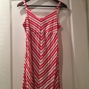 Old Navy Dresses & Skirts - Old Navy Red and White Stripe Maternity Dress