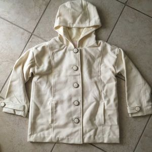 1ce2d2779 Jackets & Coats | Liz Lisa White Coat | Poshmark
